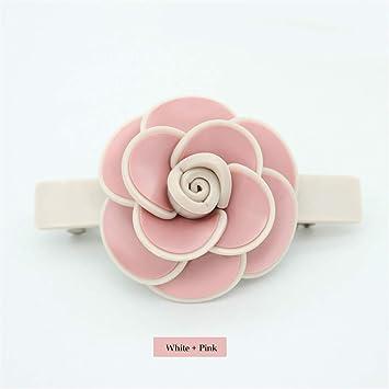 de1a34d3e85f1 Amazon.com   Cellulose Acetate Rhinestone Online Shop 80S Bridal Hair  Accessories Jewelry Ornament Barrette Pin Clip For Women Party White Pink    Beauty