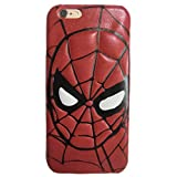Casmart iPhone 6 Plus Case - Cell Phone Case Artificial Leather Protective Cover (SpiderMan)