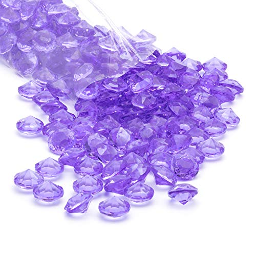 Acrylic Diamonds Gems Crystal Rocks for Vase Fillers, Party Table Scatter, Wedding, Photography, Party Decoration, Crafts by Royal Imports, 1 LB (Approx 140-160 gems) - Lavender