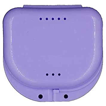 Barlingrock Denture Case, Dental False Teeth Container Storage Boxes  Dentures Cleaner Bath Box -