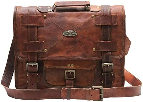 Handmade World Leather Messenger Bags For Men Women Briefcase Laptop Computer Satchel Distressed Bag 13 X 18