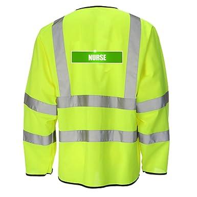 Enfermera reflectante Hi Viz Vis Light - Chaqueta para hombre perchero de pared de ligera Seguridad Medical Healthcare ropa de trabajo de alta visibilidad ...