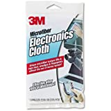 3M Products - 3M - Microfiber Electronics Cleaning Cloth, 12.5 x 14.1, White - Sold As 1 Each - Keeps computers, monitors, TV screens, CD/DVD players and other electronic devices free from dust and smudges. - Safe to use on virtually any surface in the home or office. - Machine washable for repeated use.