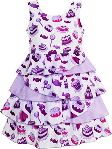 HR96 Girls Dress Cake Candy Birthday Layered Tulle Purple Size 10]()