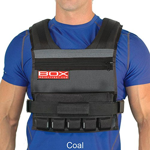 25 Lb Box Weight Vest (Coal) by WeightVest.com