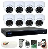 Cheap GW Security 8 Channel DVR 2TB HDD CCTV 5MP Video & Audio Surveillance Security Camera System – 8 x 5MP HDTVI Weatherproof Microphone Dome Cameras