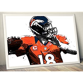 Peyton Manning Limited Poster Artwork - Professional Wall Art Merchandise (More (8x10)