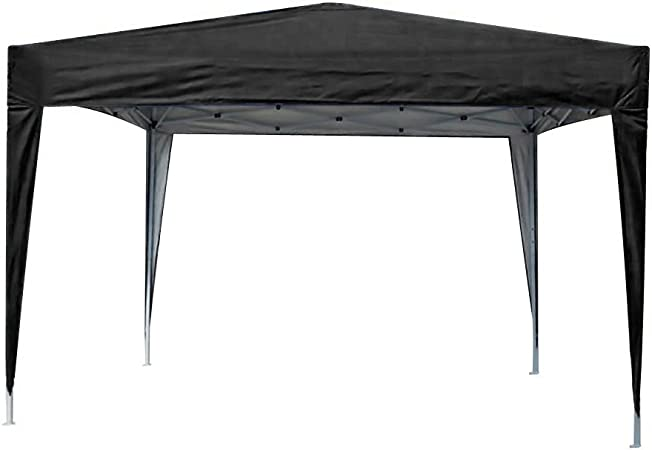 MCC® Gazebo Plegable Impermeable del Gazebo 3x3m, Tienda del pabellón con la Capa Protectora de Plata [NS] (Color Beige) (Negro): Amazon.es: Jardín