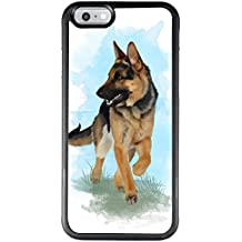 Suowen PC Customized iPhone 6 6s regular 4.7 inch Phone Case, Shock Absorbing TPU Packaging Flexible Protection Cover, Printed Protective Case Personality German?sheperd patterns Case cover