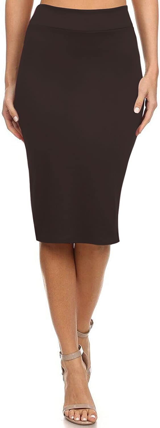 Reg and Plus Size Pencil Skirts for Women Below The Knee. Work,Weekends,Date Nights,Sexy Office Business Bodycon Skirts