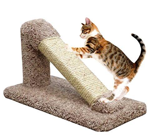 USA Made Cat Scratching Post Sisal in Brown Incline Cat Furniture Scratcher Kitten ()