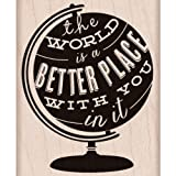 Hero Arts Better Place Woodblock Stamp