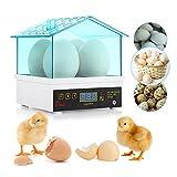 Kidsidol Mini 4 Egg Incubator Digital Thermostat House for Chickens Ducks Gooses Birds Eggs (Blue)