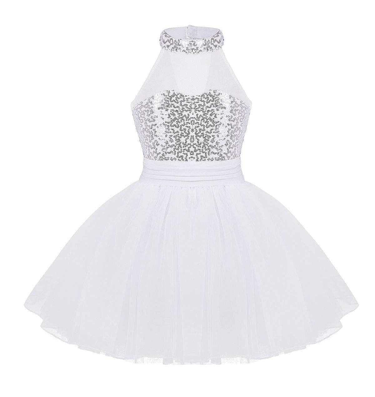 CHICTRY Girls Kids Sequins Ballet Dance Dress Gymnastics Tutu Leotard Clothes