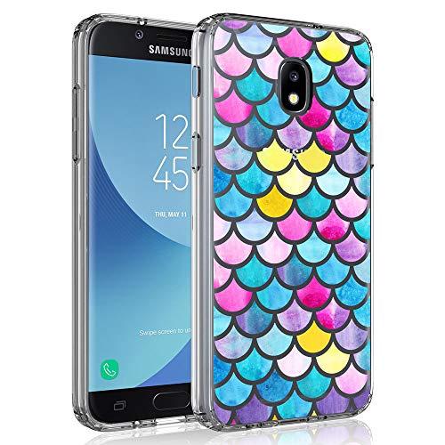 - Case for Samsung Galaxy J3 2018 / J3 V 3rd Gen / J3V 2018 / J3 Orbit / J3 Star / J3 Achieve/Express Prime 3 / Amp Prime 3 / Sol 3 / J3 Aura, SYONER Ultra Slim Clear Phone Case Cover [Fish Scale]