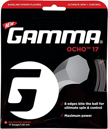 Gamma Ocho 17G Tennis String Silver