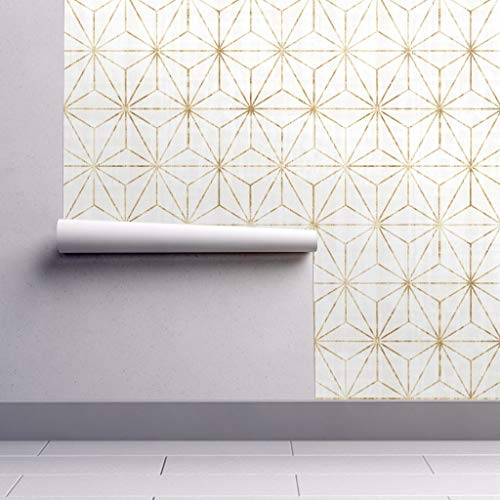 Geometric Wallpaper Sample Swatch - Geometric Abstract Stars Design Modern Home Decor Star Geometric Triangles Abstract Minimalistic by Crystal Walen - Swatch 12in x 24in from Roostery