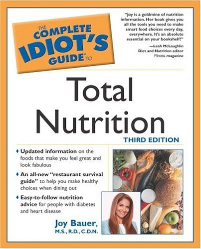 Download The Complete Idiot's Guide to Total Nutrition (3rd Edition) pdf