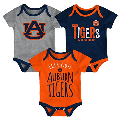Gen 2 NCAA Auburn Tigers Newborn & Infant Little Tailgater Bodysuit, 18 Months, Dark Navy