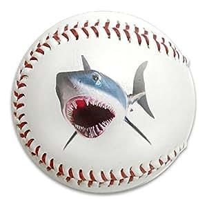 Painful Shark, mi Incisor tamaño 9 pelotas de goma suave para béisbol de entrenamiento, béisbol de béisbol de seguridad de impacto reducido, béisbol avanzado, blanco