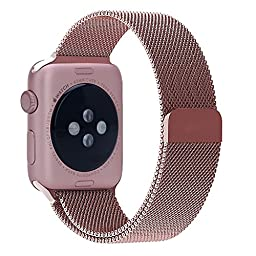 BRG Apple Watch Band, 38mm Milanese Loop Stainless Steel Bracelet - Original Rose Gold