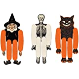 "Beistle 00430 Vintage Halloween Tissue Dancers 3 Piece 14"" Multicolored"