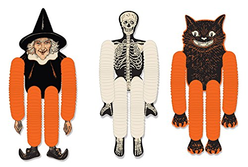 Beistle 00430 Vintage Halloween Tissue Dancers 3 Piece, 14