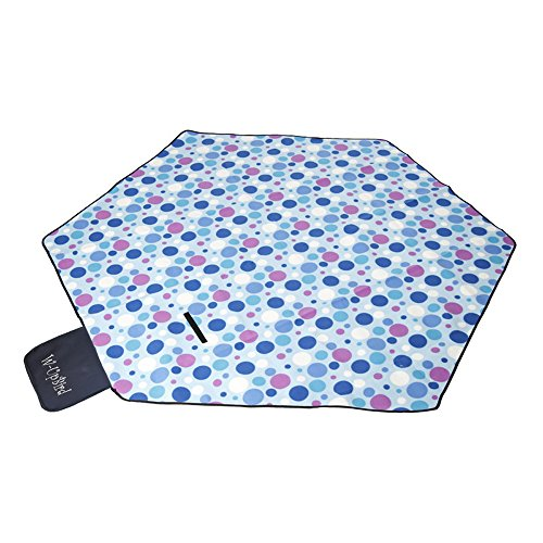 W-UpBird 86 x 86 inches Foldable Hexagon Picnic Garden Camping Blanket Mat Rug for Camping Outdoor Beach Hiking Grass Travel Using