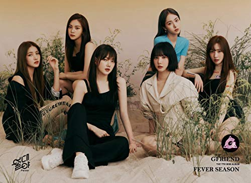Source Music - SOURCE MUSIC G-Friend GFRIEND - Fever Season [夜 Ya ver.] (7th Mini Album) 1CD+Photobook+2Photocard+1Frame Clear Photocard+2Sticker+Pre-Order Benefit+Folded Poster+Double Side Extra Photocards Set