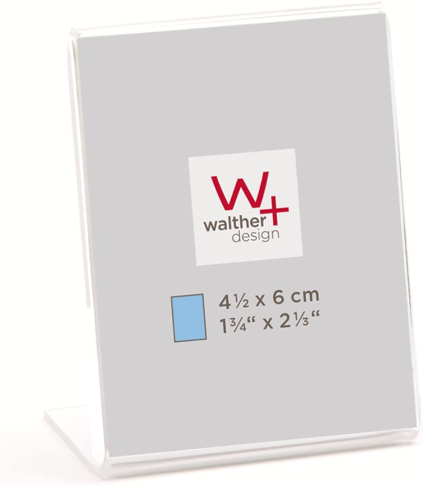 2X 10x15 cm Hochformat walther design AD1015 Acryl Doppel-Rahmen