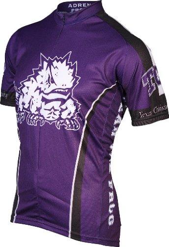 Adrenaline Promotions TCU Cycling Jersey,XX-Large, Purple