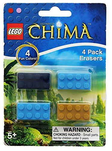 Lego Legends of Chima Brick Erasers 4 Pack