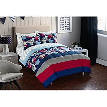 Amazon Com Children S Twin Size Patriotic Flag Print