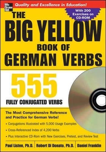 The Big Yellow Book of German Verbs (Book w/CD-ROM): 555 Fully Conjugated Verbs (Big Book of Verbs) ()
