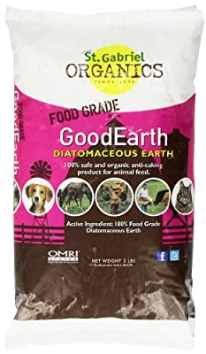 GoodEarth Diatomaceous Earth Supplement for Chicken and Farm Animals,NET WT 2 LBS by St. Gabriel Organics