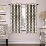 Flamingo P Home Decorations Thermal Insulated Moroccan Blackout Drapes Printed Window Curtains for Living Room