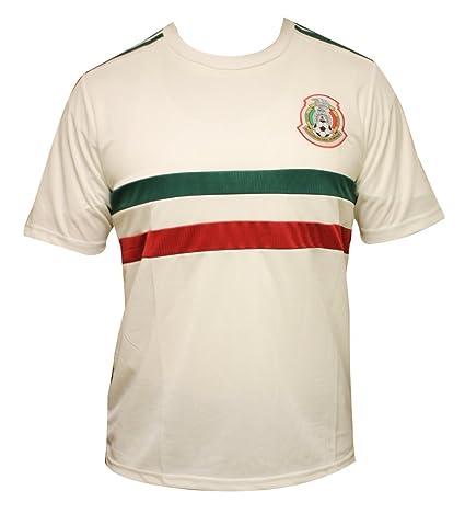 Nuevo. México equipo nacional Rusia 2018 Jersey de fútbol blanco ...