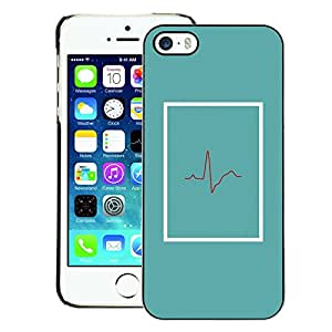 A-type Arte & diseño plástico duro Fundas Cover Cubre Hard Case Cover para iPhone 5 / 5S (Doctor Beat Teal Er Life Minimalist)