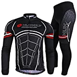 NUCKILY Men's New Arrival Good Quality LS Mountain Bike Jersey Set XXX-Large