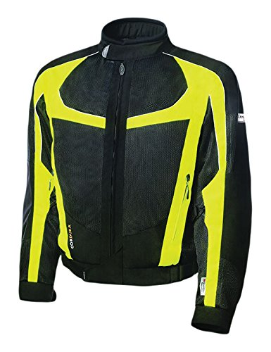 Olympia Moto Sports Men's Switchback 2 Mesh Tech Jacket (Black/Neon Yellow, X-Large)