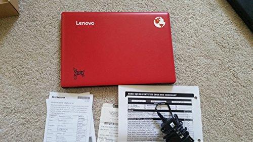 Lenovo Ideapad Premium High Performance 11.6-inch Laptop, Intel Atom Z3735F, 1.3 GHz, 2GB DDR3L, 32GB Flash Memory, 1366 X 768 HD, HDMI, WiFi, Webcam, Free 1 year office 365, Windows 10 - Red