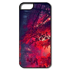 IPhone 5S Case, Red Forest White/black Cases For IPhone 5 5S