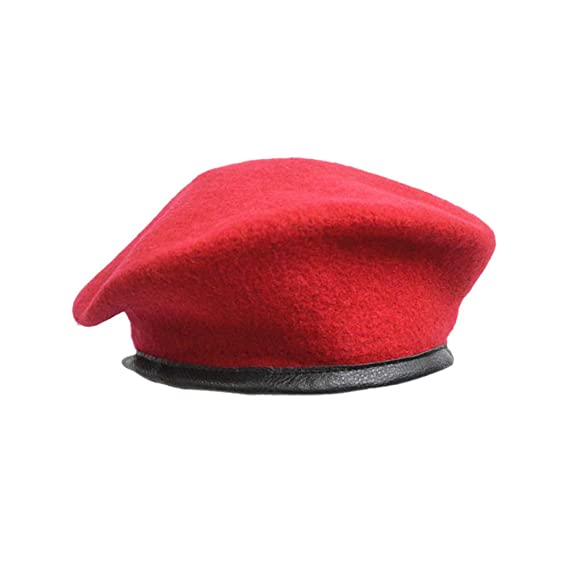 81554754e15ad LUOEM Beret Hat Unisex Adjustable Pure Wool Sun Hat Driving Cap for Adult  Men (Red)  Amazon.ca  Clothing   Accessories