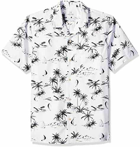 b1104405 Amazon Brand - 28 Palms Men's Standard-Fit 100% Cotton Tropical Hawaiian  Shirt