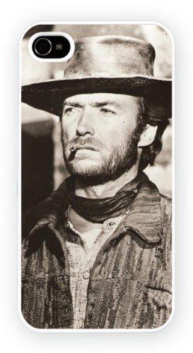 Clint Eastwood BW Art Design, iPhone 4 4S, Etui de téléphone mobile - encre brillant impression