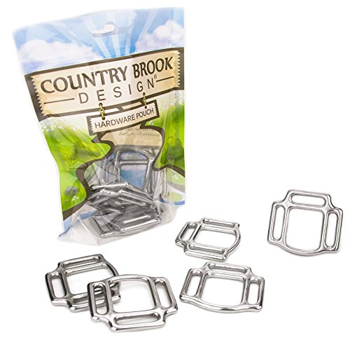 - 6 - Country Brook Design | 1 Inch Stainless Steel 3-Sided Horse Halter Squares