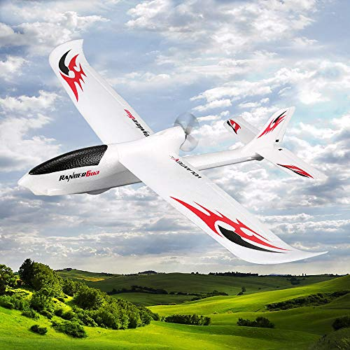 FUNTECH 3 Channel Remote Control Sailplane, RTF RC Airplane Drone with 2.4GHz Control Flying Aircraft for Indoors/Outdoors Flight Plane,Built in 6 Axis Gyro System Super Easy to Fly