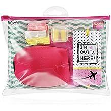 NPW-USA 7 Piece Beauty Junky In-Flight Essential Travel Comfort Kit