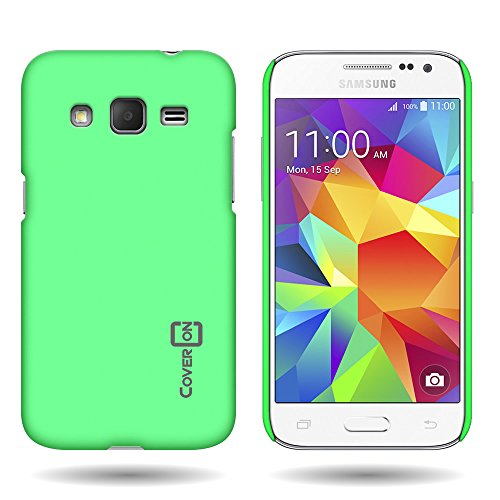 Samsung Galaxy Core Prime (G360) / Prevail LTE Case, by CoverON Hard Case Slim Fit Back Cover for Samsung Galaxy Core Prime (G360) Prevail LTE - Lime Green (Lime Green Faceplates)