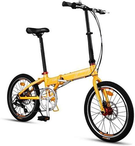 AOHMG Bicicleta Plegable Ciudad Adulto Bici Plegable, 7 ...
